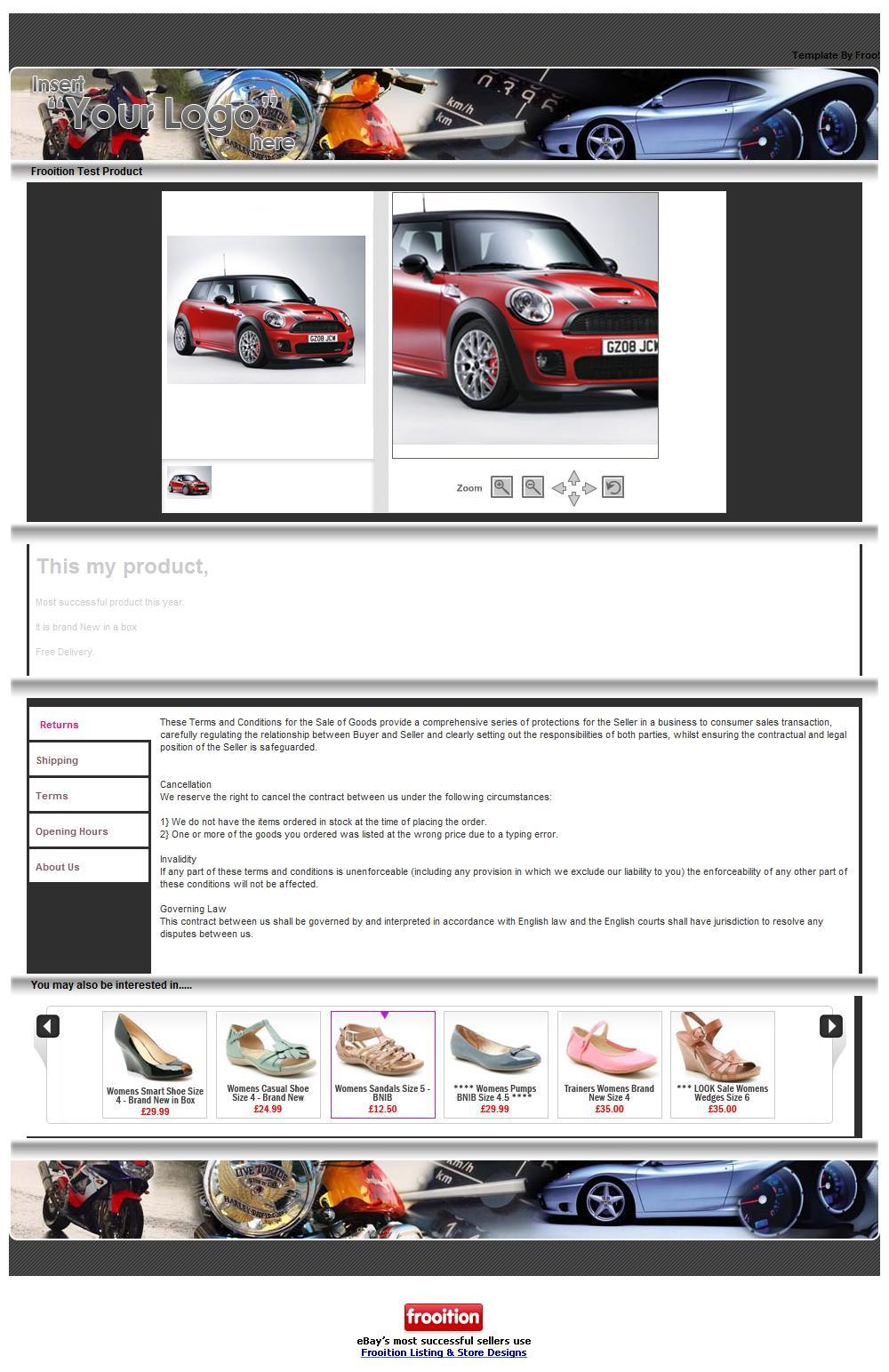 Frooition Inc.   Advanced eBay Design: eBay Store Design, eBay ...